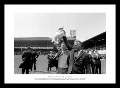 Derby County Brian Clough Peter Taylor 1972 Photo Memorabilia
