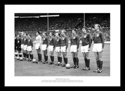 England 1966 World Cup Final Team Line Up Photo