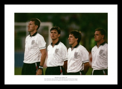 England Legends 1990 World Cup Photo Memorabilia