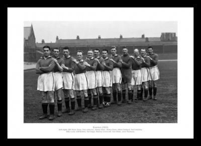 Everton FC 1933 Team Photo Memorabilia