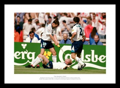 Paul Gascoigne 'Dentist Chair' Euro 96 Photo Memorabilia