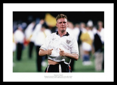 Gazza's Tears England 1990 World Cup Photo Memorabilia