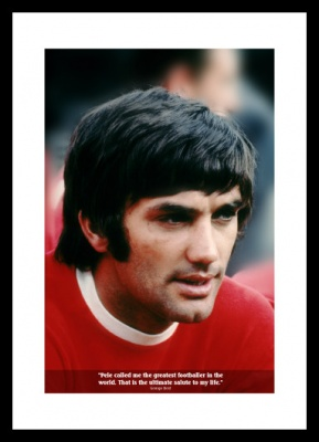 George Best 'Pele' Classic Quote Photo Memorabilia