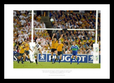 Jonny Wilkinson Drop Goal 2003 World Cup Final Rugby Photo Memorabilia