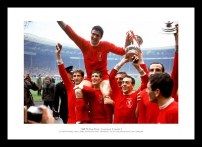 Liverpool FC 1965 FA Cup Final Team Photo Memorabilia