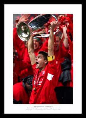 Steven Gerrard 2005 Champions League Final Liverpool Photo Memorabilia
