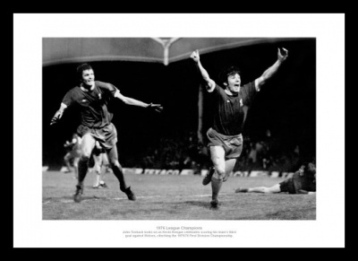 Liverpool 1976 League Champions Toshack & Keegan Photo Memorabilia