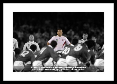 Martin Johnson Classic Quote Rugby Photo Memorabilia