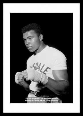 Muhammad Ali Classic Quote Boxing Photo Memorabilia