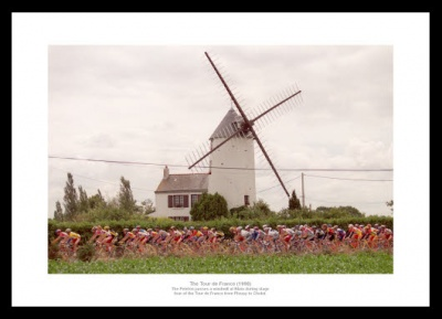Tour de France Photo Memorabilia -  Windmill at Blain