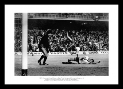 Rangers FC Memorabilia - 1972 European Cup Winners Cup Goal Photo