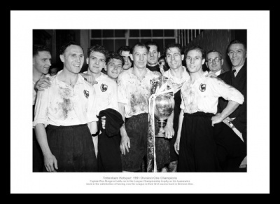 Tottenham Hotspur 1951 League Champions Team Photo Memorabilia