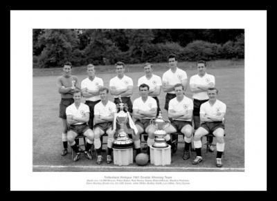 Tottenham Hotspur 1961 Double Winning Team Photo Memorabilia