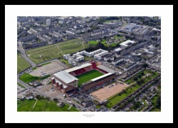 Aberdeen FC Pittodrie Stadium Aerial Photo Memorabilia