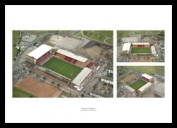 Aberdeen FC Pittodrie Stadium Aerial Views Photo Montage
