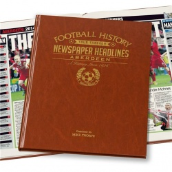 Personalised Football Historic Newspaper Books