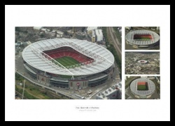 Emirates Stadium Aerial Photo Memorabilia Montage