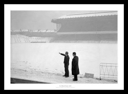 Arsenal FC Highbury Stadium Covered in Snow 1962 Photo Memorabilia