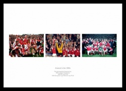 Arsenal FC in the 1990s Photo Memorabilia Montage