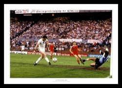 Aston Villa 1982 European Cup Final Peter Withe Goal Photo