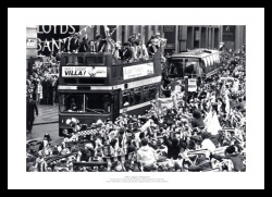 Aston Villa 1981 League Champions Open Top Bus Photo