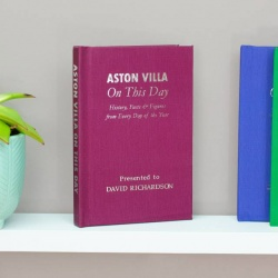 Personalised Aston Villa 'On This Day' Book
