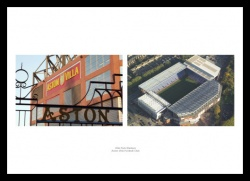 Aston Villa Football Stadium Double Photo Memorabilia