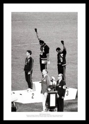 Black Power Salute 1968 Olympic Games Photo Memorabilia