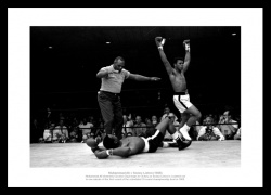 Muhammad Ali Celebrates Sonny Liston Knock Out 1965 Photo Memorabilia