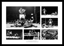 Heavyweight Boxing Legends Photo Memorabilia Montage