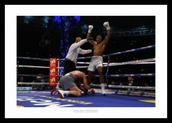 Anthony Joshua Knocks Down Klitschko Wembley 2017 Boxing Photo