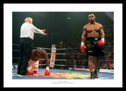 Mike Tyson in Manchester Boxing Photo Memorabilia