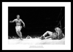 Rocky Marciano vs Joe Louis 1951 Boxing Photo Memorabilia