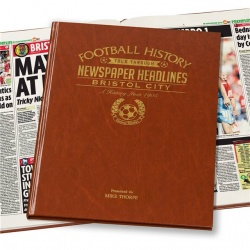 Personalised Bristol City Historic Newspaper Memorabilia Book