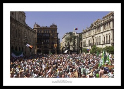 Celtic FC Fans 2003 UEFA Cup Final Photo