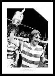 Kenny Dalglish with Scottish Cup 1977 Celtic Photo Memorabilia