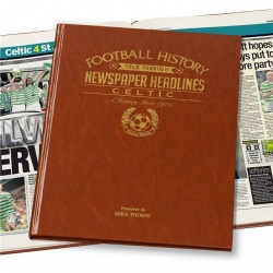 Personalised Celtic FC Historic Newspaper Memorabilia Book