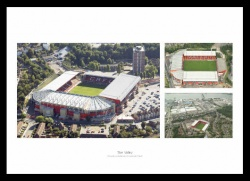 Charlton Athletic The Valley Stadium Aerial Photo Memorabilia