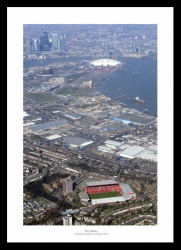 Charlton Valley Stadium and London Aerial Photo Memorabilia