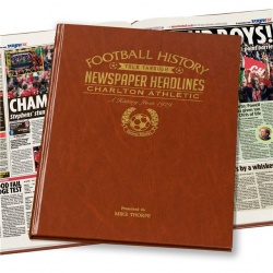Personalised Charlton Athletic Historic Newspaper Memorabilia Book