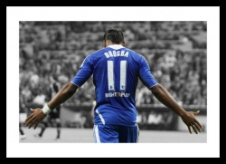 Didier Drogba 2012 Champions League Final Spot Colour Photo