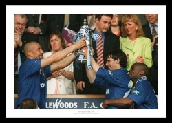Chelsea FC 1997 FA Cup Final Vialli & Zola Photo Memorabilia