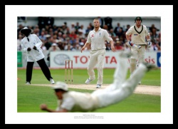 England 2005 Ashes Andrew Strauss Diving Catch Photo Memorabilia