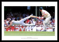James Anderton Ashes 2011 Photo Memorabilia
