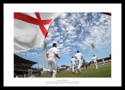 England Take to the Field - 2011 Ashes Series Photo Memorabilia