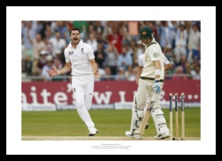 England 2013 Ashes Series James Anderson Celebrates Photo Memorabilia