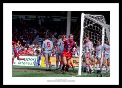 Crystal Palace 1990 FA Cup Semi Final Pardew Goal Photo Memorabilia