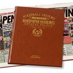 Personalised Crystal Palace Historic Newspaper Memorabilia Book