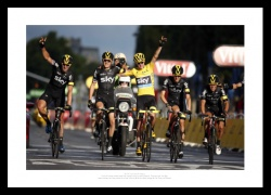 Chris Froome Team Sky Paris 2015 Tour de France Photo Memorabilia