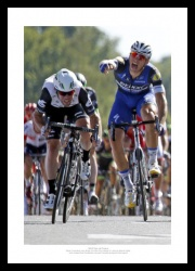 Mark Cavendish Beats Kittel 2016 Tour de France Photo Memorabilia